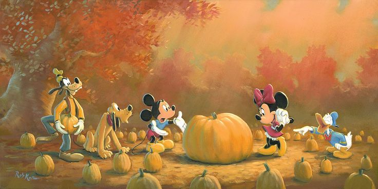 Mickey Mouse - Picking the Perfect Pumpkin - Rob Kaz - World-Wide-Art.com - #disneyfineart #robkaz #halloween #mickeymouse #minniemouse #donaldduck #goofy #pluto