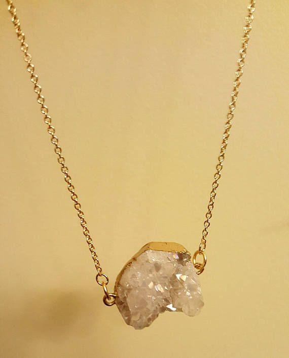 Crystal cluster necklace.