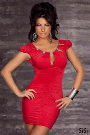 SISI RED Dámské šaty, párty šaty, společenské šaty