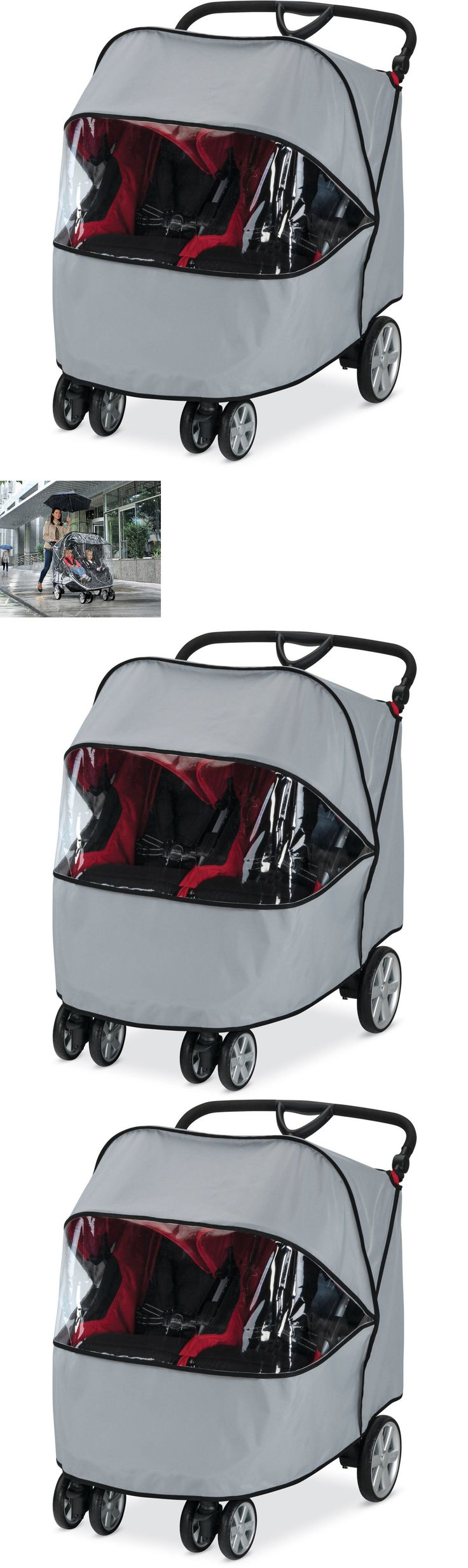 Cup Holders and Snack Trays 180913: Britax B Agile Double Rain Cover Easily Secured Using Hook And Loop Attachments -> BUY IT NOW ONLY: $286.91 on eBay!