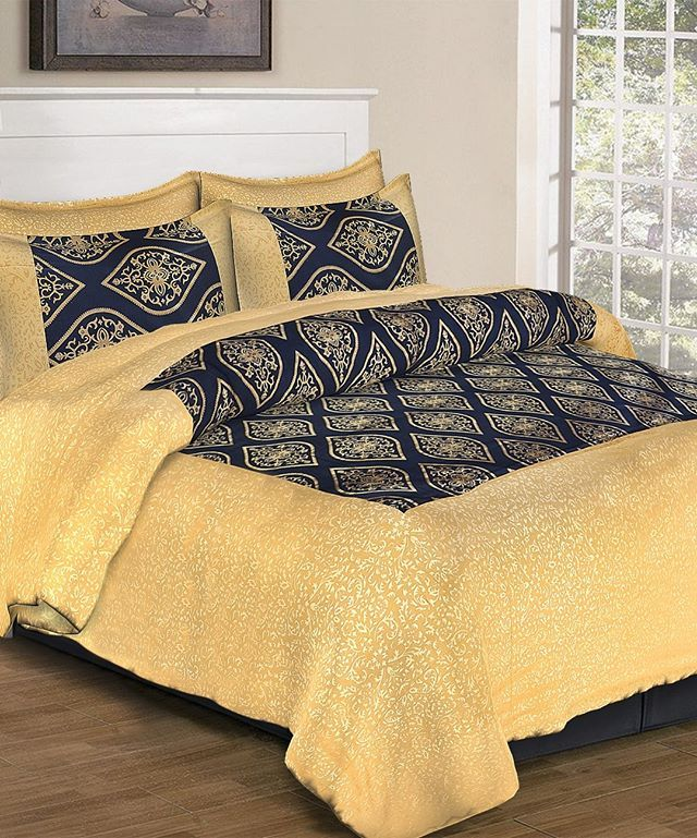 Sample Images Of Patola Gold Bedsheets Size 94108 Order On