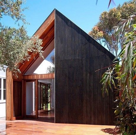 Beach House by Auhaus Architecture  DJS note - like the triangular window, not so much the timber