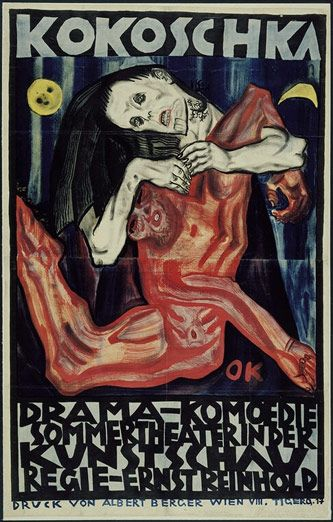 German Expressionism: 1909, Oskar Kokoschka, Picture-Black Posters, Graphics Designillustr, Woman, Plays Murder, Art Posters, Posters Para, Hope