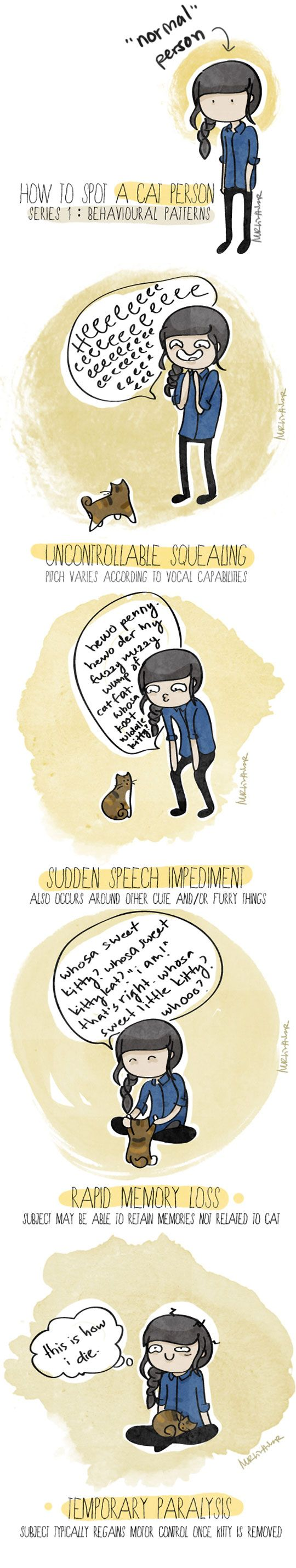 How to spot a cat person…