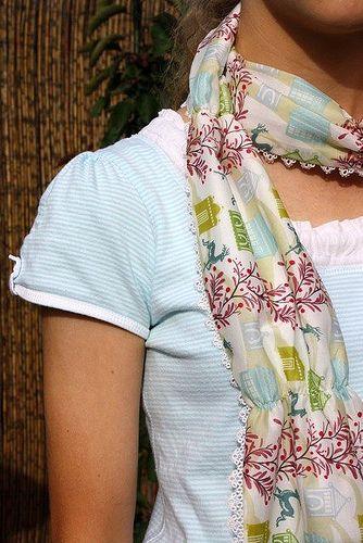 #Voile #scarf tutorial @ Bloom http://www.lovelysilks.com