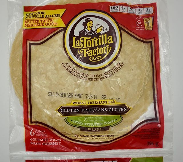 So excited to find this gem of a tortilla that's gluten free and not made from primarily corn or rice. La Tortilla Factory gluten free wraps. Made from ivory teff which is an ancient grain. They are soft, flexible and don't crack apart when you roll them. They taste good too  Follow my account as I post all of the products I find. Don't forget I'm on YouTube too. @latortillafactory