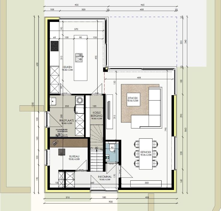 Te koop - Villa 3 slaapkamer(s)   - TE KOOP: Lot 4 in verkaveling Dumobil in de Hellestraat te Zaffelare met woning op maat van de klant. Kostprijs grond 134.000 euro. De totaalprijs van  - dressing 1 bad(en) -   4 gevel(s) -   - eetkamer - oppervlakte keuken: 18 m2 - oppervlakte living: 21 m2 - oppervlakte eetkamer: 12 m2