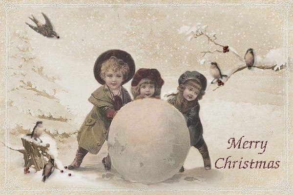 JanetK.Design du vintage numérique gratuit: Noël