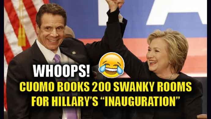 NY GOV. CUOMO BOOKED 200 HOTEL ROOMS IN D.C. FOR HILLARY'S INAUGURATION…JUST LIKE NEWSWEEK EDITION OF 'PRESIDENT HILLARY'- THEIR BIGGEST FAKE NEWS EVER!     70news