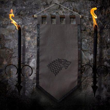 Game of thrones flag curtain house STARK home decor by Oki007