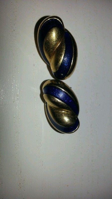 Ohrringe Stecker blau gold