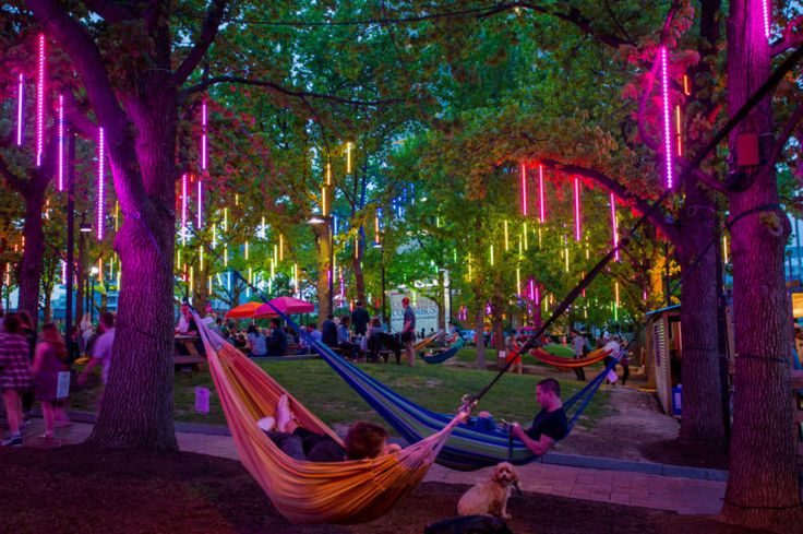 The popular waterfront attraction returns with an opening weekend festival, food, drinks, games, hammocks and more