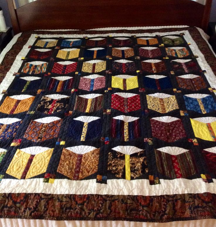 I finally finished the quilt for Ray which we started together ten years ago. Luckily he still likes books.