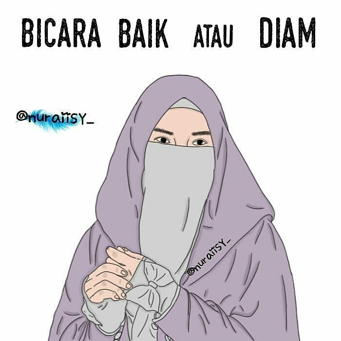 50 Gambar Kartun Muslimah Bercadar Cantik Berkacamata Kartun Muslimah Kartun Gambar Kartun Gambar
