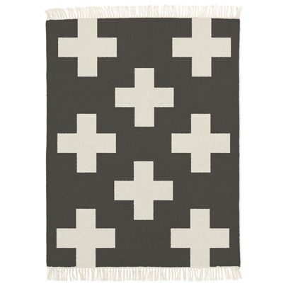 1.6x2.3m Crosses Rug in Smoke