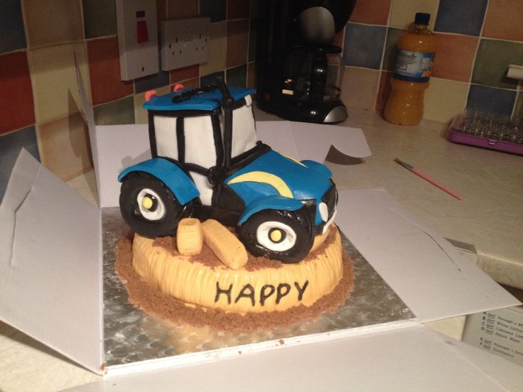 how to make a new holland tractor cake