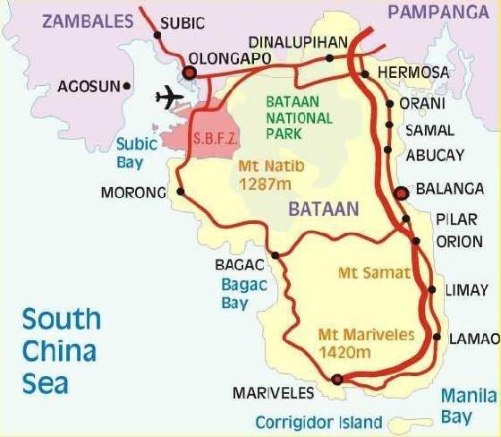 Subic Bay map - Olongapo