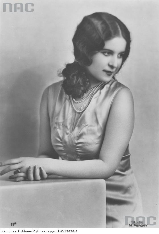 Zofia Dobrowolska - Miss Polonia 1932 wybrana w Paryżu
