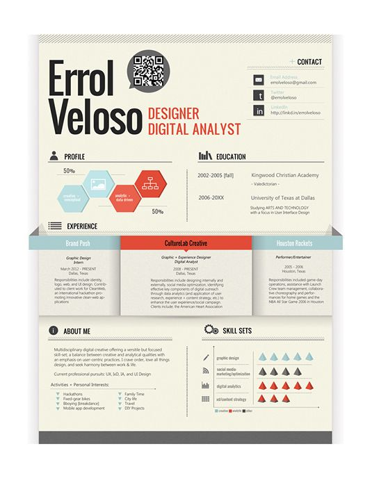 The 25+ best Cool resumes ideas on Pinterest Resume layout - cool resume ideas