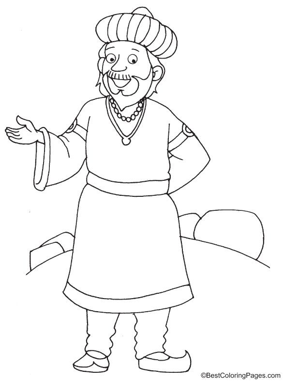 Arabic King Coloring Page Coloring Pages Coloring Pages For Kids Color