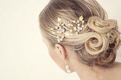Braut Haarschmuck, Perlen haarnadeln, Goldfarbe
