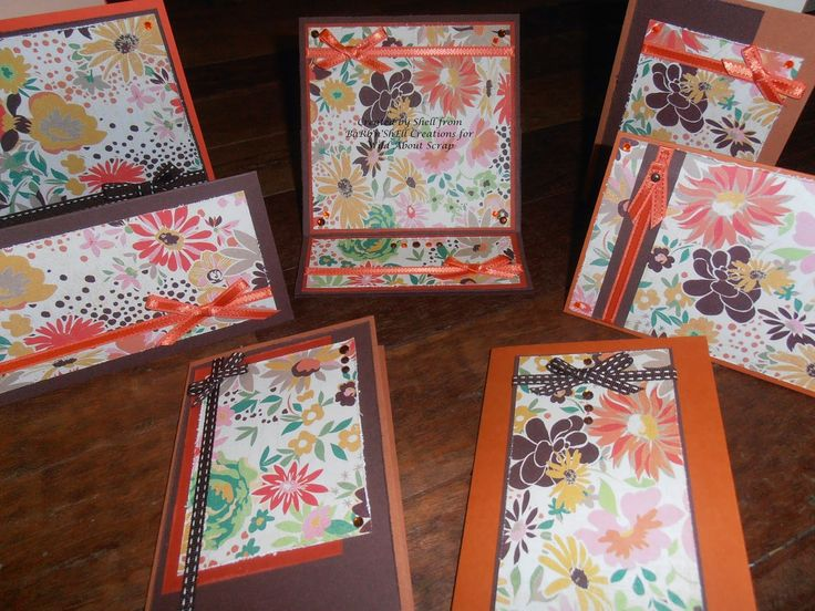 Wild About Scrap Design Team: 7 Cards from One 12x12 Sheet