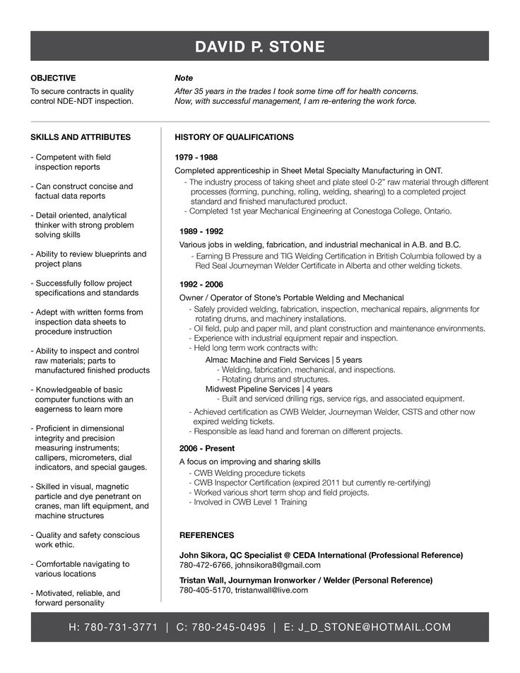 23 best Resume Inspiration images on Pinterest Resume design - welding inspector resume