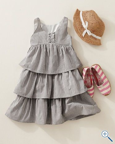 Amelia Ruffled Cotton Dress, retro-inspired prints