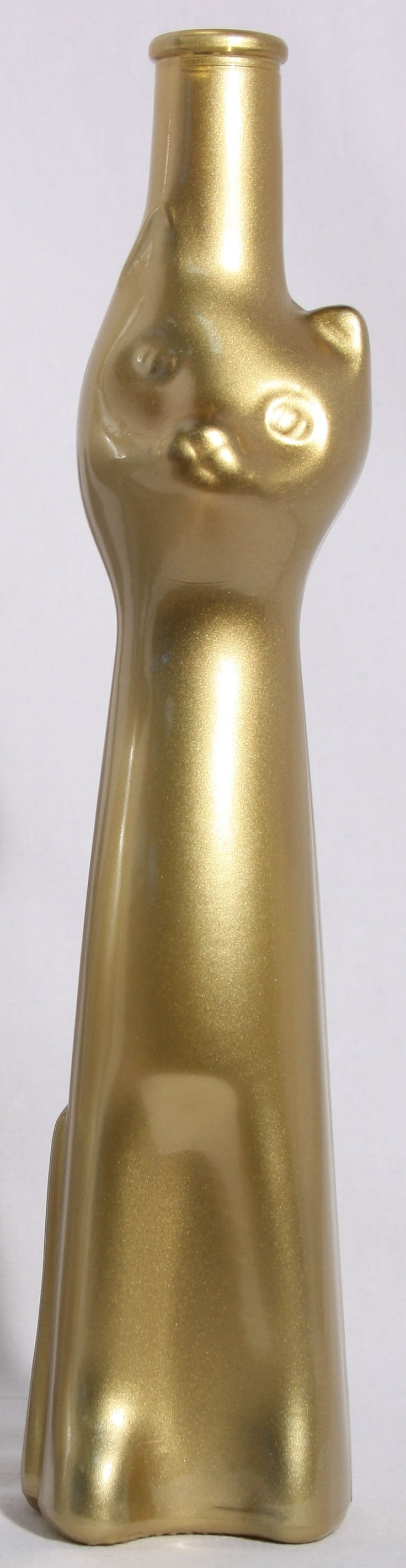 Moselland Reisling Cat Bottle, Gold Cat wine, Riesling