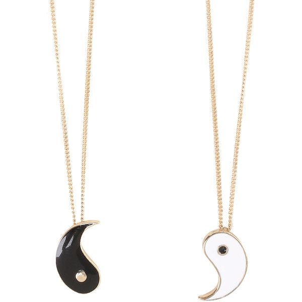 LOVEsick Yin-Yang Best Friends Necklaces   Hot Topic ($35) ❤ liked on Polyvore