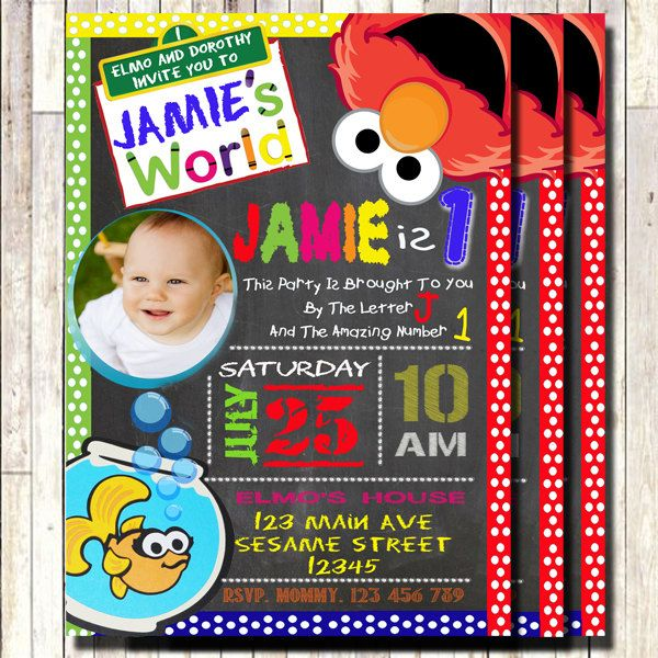 3b627b16bc012d7f325b5380b96842ab sesame street invitations elmo invitations 236 best images about 3lileagles printables on pinterest,Elmo Invitations Etsy