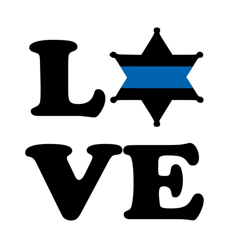 Thin Blue Line Sheriff Star LOVE decal, Blue Line Decal, Wife Blue Line Decal, Yeti Decal, laptop decal, sheriff decal, car decal by BlueLineCraft on Etsy