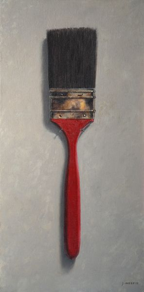 Norm's Red Brush • 16 x 8 • Oil on Linen • Another really old brush that was given to me. It's got a neat looking red lacquered handle.