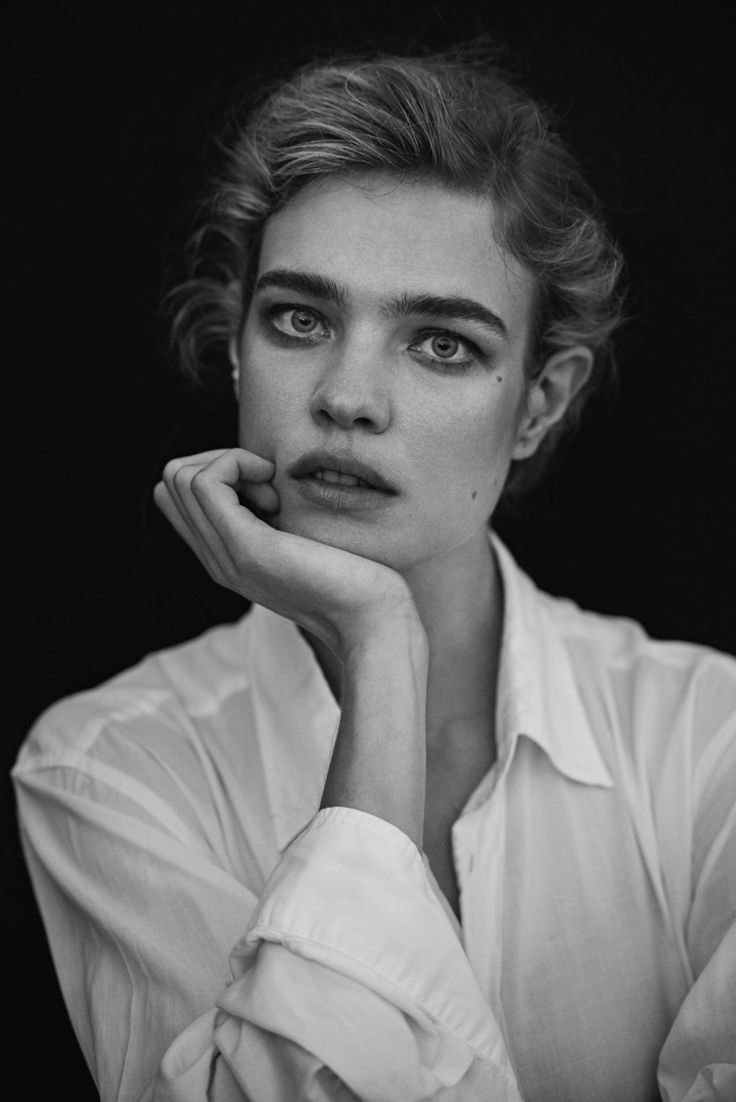 The Russian model poses for Peter Lindbergh