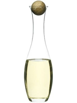 Wine / water carafe with oak stopper - coolbeans