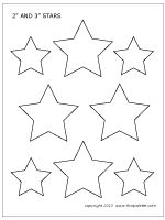2- and 3-inch star template also has a 4 inch star I will use as a template for my flag wall. Each scholar will decorate 1 star for one of the 50 states.