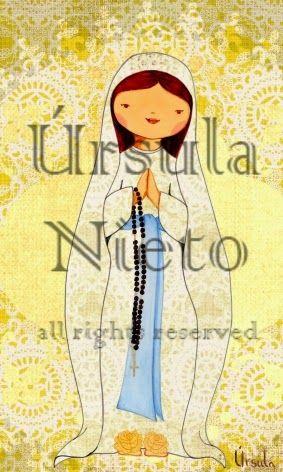 Virgen de Lourdes. Our Lady of Lourdes