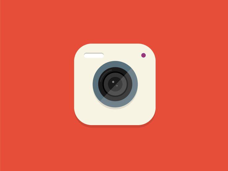 Flat Camera Icon On Dribbble #icon #illustration #graphicdesign