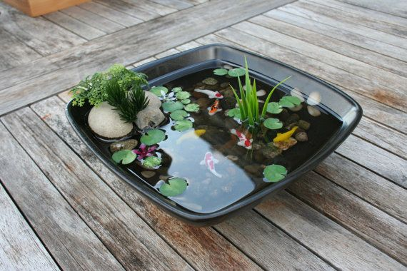 miniature koi pond in resin fish i love and love
