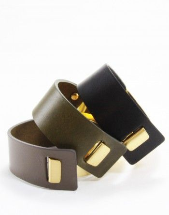 Benatra – Pelle Posh Leather Bracelets (Available in Black, Taupe, Khaki) Content:  Italian Genuine Leather & Brass