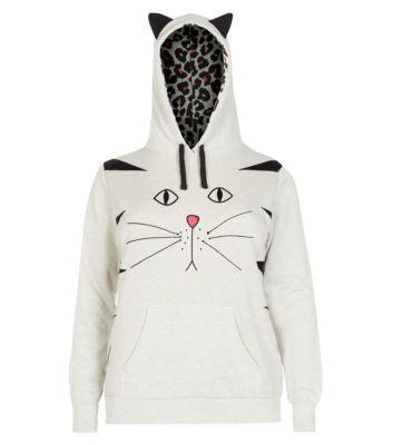 Inspire Light Grey Cat Ear Hoodie