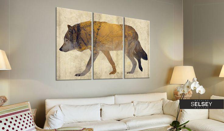 Obraz - Wędrujący wilk 120x80 cm
