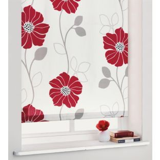 Buy Living 3ft Jessica Roller Blind - Cream and Red at Argos.co.uk - Your Online Shop for Blinds.