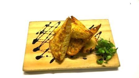 Herb and Garlic bread, Wild prawn Café, Bar + Grill