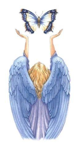 Angel azul cielo