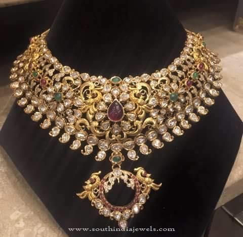 Gold Necklace Designs in 120 Grams, Gold Necklace Designs with Weight in Grams.