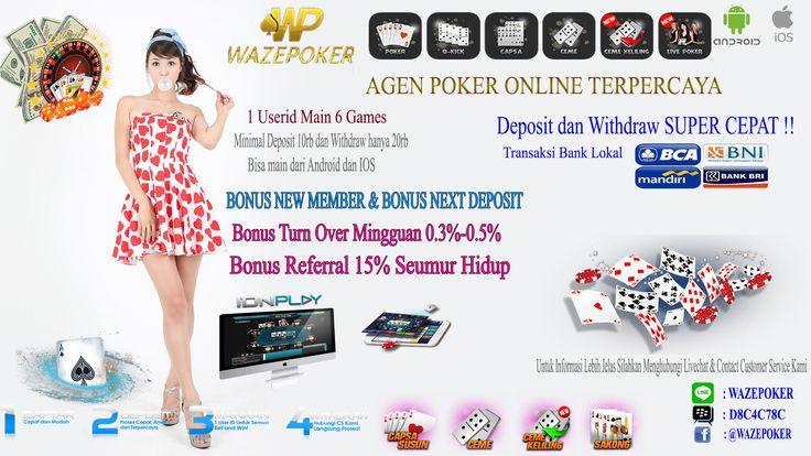 Situs Poker Online Bonus New member terbesar dan gapang menang