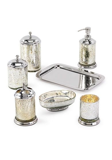 silver crackle glass bathroom accessories. Avanti Mercury Crackle Glass Silver Bathroom Accessory Collection 129 best bathroom images on Pinterest  Powder rooms 16th century