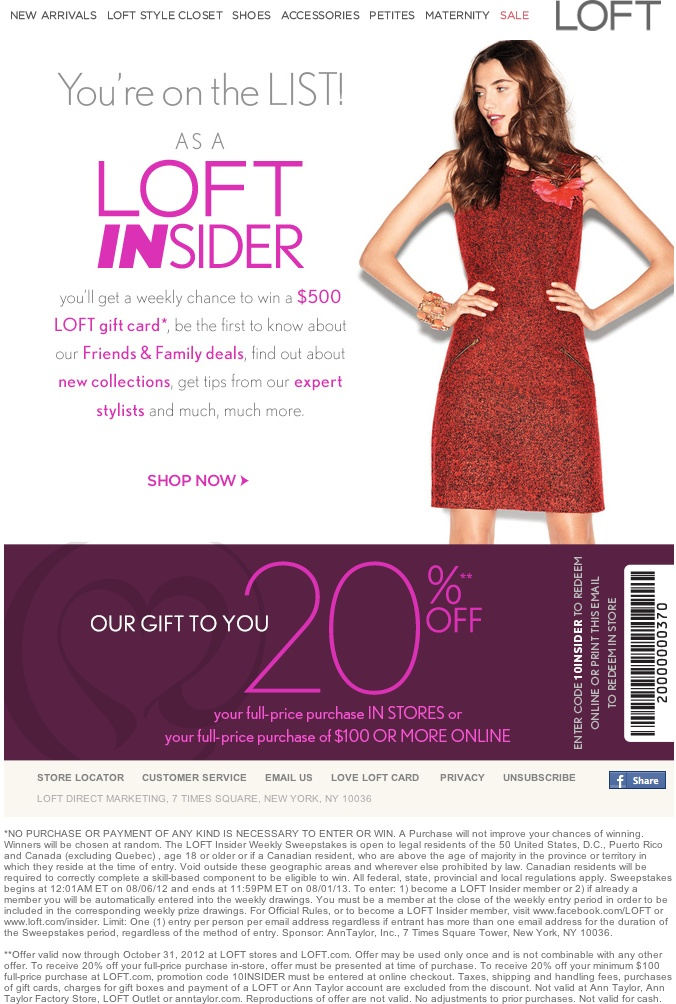 LOFT Coupons & Promo Codes
