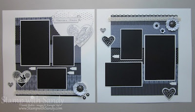 Take it to Heart Vintage Scrapbook Pages Stampin Up 12x12 Spread